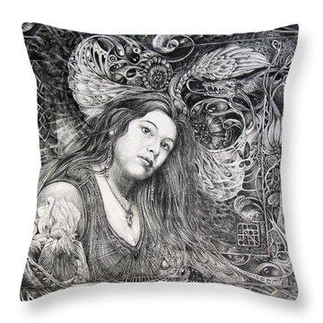 Christan Portrait Throw Pillow by Otto Rapp