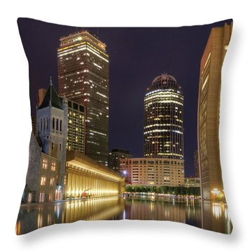 Christian Science Center-boston Throw Pillow by Joann Vitali