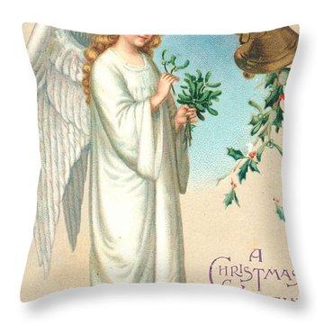 Christmas Angel Throw Pillow by English School