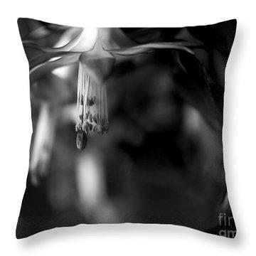 Christmas Cactus Throw Pillow by Theresa Tahara
