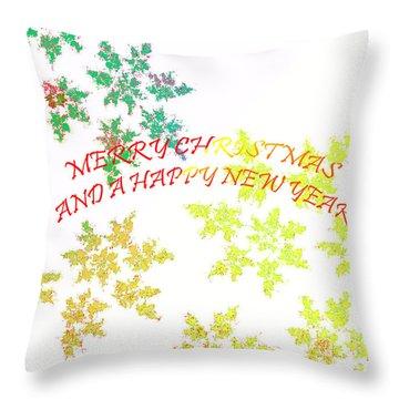 Christmas Card I Throw Pillow by Tatjana Popovska