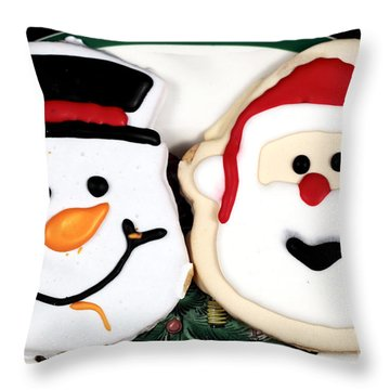 Christmas Cookies Throw Pillow by John Rizzuto