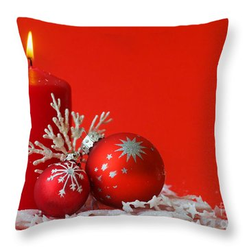 Christmas Decoration Background Throw Pillow by Michal Bednarek