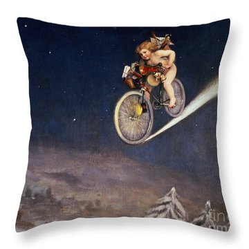 Christmas Delivery Throw Pillow by Jose Frappa