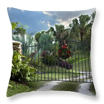 Christmas Gate Throw Pillow by Robert Smith