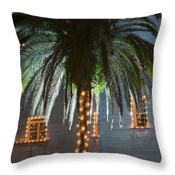 Christmas Palm Throw Pillow by Kenneth Albin