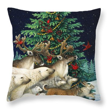 Christmas Parade Throw Pillow by Lynn Bywaters