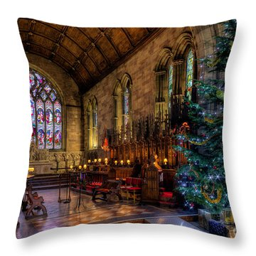 Christmas Time Throw Pillow by Adrian Evans