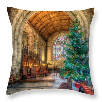 Christmas Tree Throw Pillow by Adrian Evans