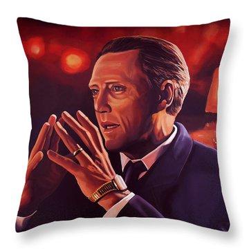 Christopher Walken Painting Throw Pillow by Paul Meijering