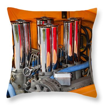 Chrome Colored Stacks Throw Pillow by Carolyn Marshall