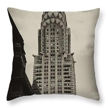 Chrysler Throw Pillow by Andrew Paranavitana