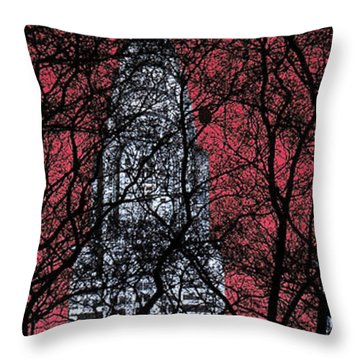 Chrysler Building 8 Throw Pillow by Andrew Fare