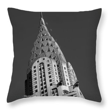 Chrysler Building Bw Throw Pillow by Susan Candelario