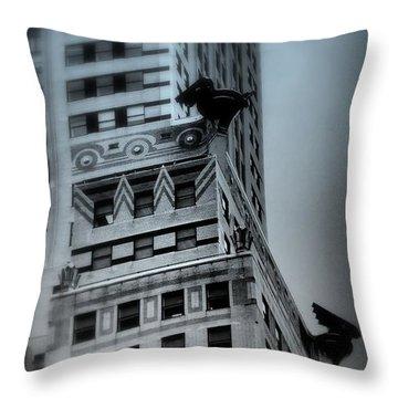 Chrysler In Blue Throw Pillow by Miriam Danar