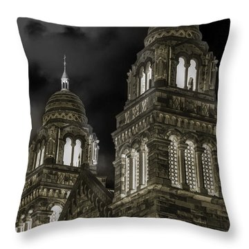 Church Lights On St. Peter Cathedral Throw Pillow by Optical Playground By MP Ray