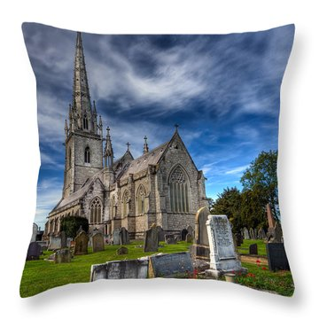 Church Of Marble Throw Pillow by Adrian Evans