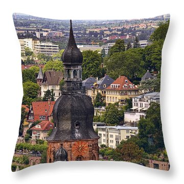 Church Of The Holy Spirit Steeple Throw Pillow by Marcia Colelli