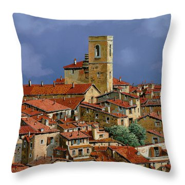 Cielo A Pecorelle Throw Pillow by Guido Borelli
