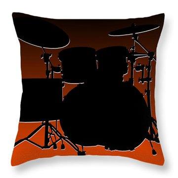 Cincinnati Bengals Drum Set Throw Pillow by Joe Hamilton