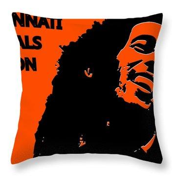Cincinnati Bengals Ya Mon Throw Pillow by Joe Hamilton