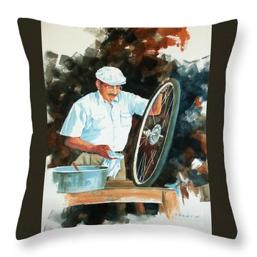 Circle Of Life 2 Throw Pillow by Kathy Braud