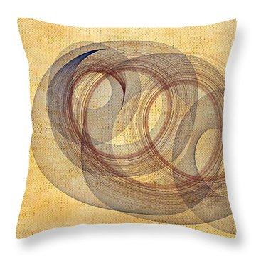 Circle Of Life Throw Pillow by Marian Palucci-Lonzetta