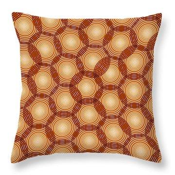 Circles Abstract Throw Pillow by Frank Tschakert