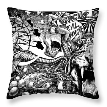 Circus Breaks Throw Pillow by Matthew Ridgway
