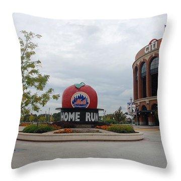 Citi Field Throw Pillow by Rob Hans
