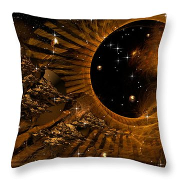 Cities In Flight Throw Pillow by Phil Sadler