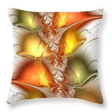 Citrus Colors Throw Pillow by Anastasiya Malakhova