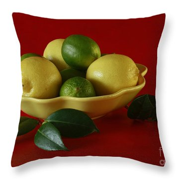 Citrus Passion Throw Pillow by Inspired Nature Photography Fine Art Photography