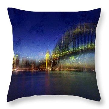 City-art Sydney Throw Pillow by Melanie Viola