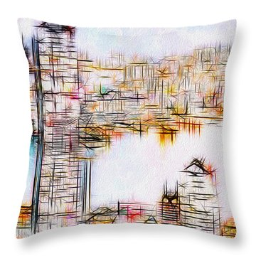 City By The Bay Throw Pillow by Jack Zulli