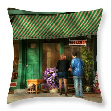City - Canandaigua Ny - Buyers Delight Throw Pillow by Mike Savad