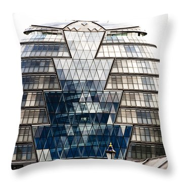 City Hall London Throw Pillow by Christi Kraft