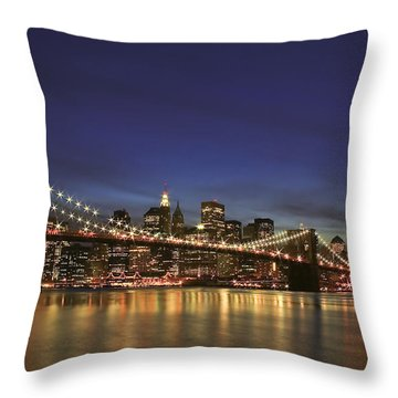 City Of Lights Throw Pillow by Evelina Kremsdorf