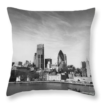 City Of London  Throw Pillow by Pixel Chimp