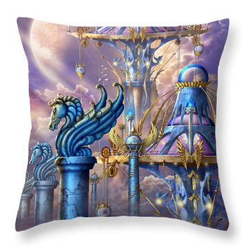 City Of Swords Throw Pillow by Ciro Marchetti