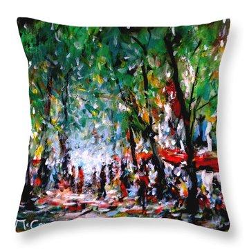 City Promenade Throw Pillow by K McCoy