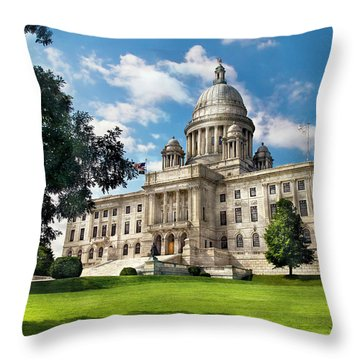 City - Providence Ri - The Capitol  Throw Pillow by Mike Savad