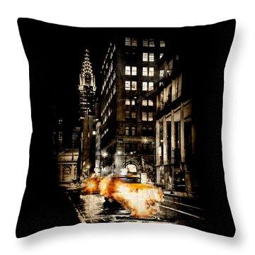 City Streets  Throw Pillow by Az Jackson