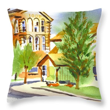 City Streets Throw Pillow by Kip DeVore
