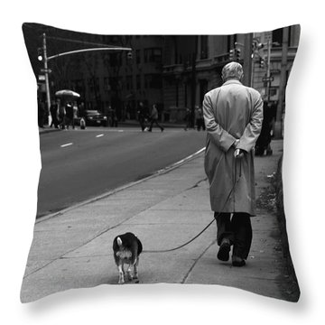 City Walk Throw Pillow by Diane Diederich