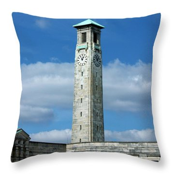 Civic Centre Southampton Throw Pillow by Terri Waters