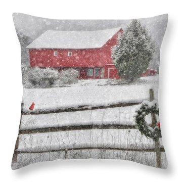 Clarks Valley Christmas 2 Throw Pillow by Lori Deiter