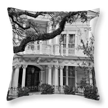 Class Act Monochrome Throw Pillow by Steve Harrington