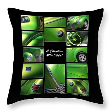 Classic 40s Style - Poster Throw Pillow by Gary Gingrich Galleries