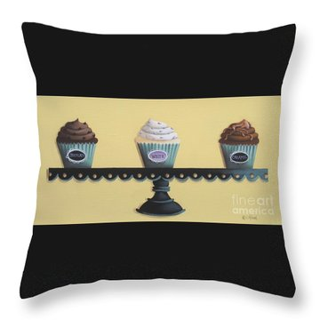 Classic Cupcakes Throw Pillow by Catherine Holman